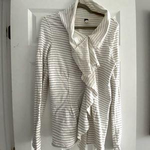Freepeople zip up sweatshirt